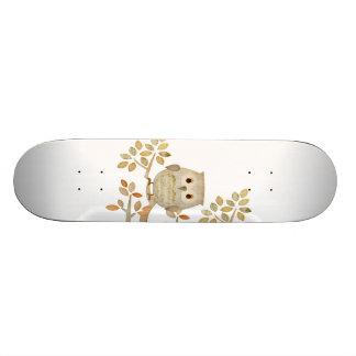 Musikalisk trädugglaSkateboard Old School Skateboard Bräda 21,6 Cm