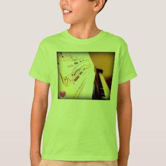 Musikaliska livstidunge piano stämm T-tröja T Shirts