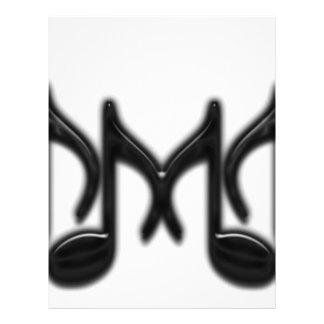 """Musikaliskt brev """"M """", Reklamblad 21,5 X 30 Cm"""