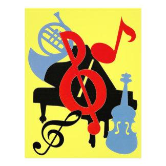 Musikaliskt orkesterScrapbookpapper Brevhuvud