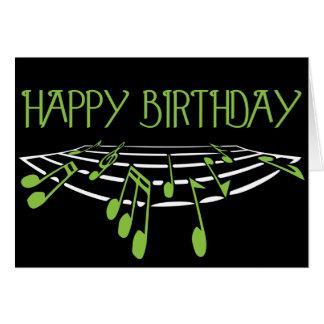 Musikaliskt Themed födelsedagkort - grönt