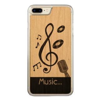 Musikälskare Carved iPhone 7 Plus Skal