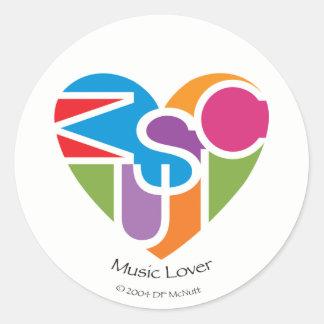 Musikälskare Heart® klistermärke