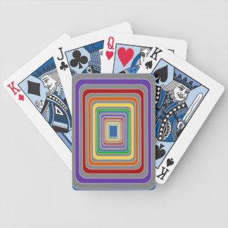 Musikband av färg som leker kort spelkort