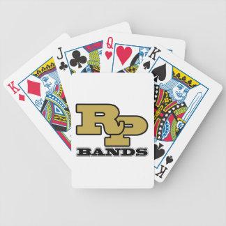 Musikband som Stråle-Pec leker kort Spelkort