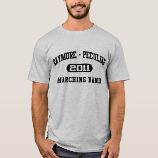 MusikbandT-tröja 2011 för marsch Stråle-Pec T-shirts