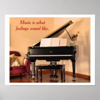 Musikcitationstecken - affisch poster