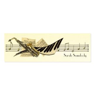 Musikdesignkortkortet profilerar kort set av smala visitkort