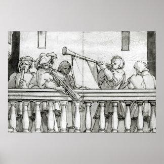 Musiker av Henry VIII Poster