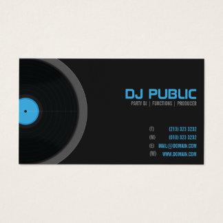 Musiker för Jockey för DJ-DeeJayDisk Visitkort