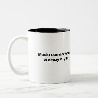 Musikexplosionmugg Två-Tonad Mugg