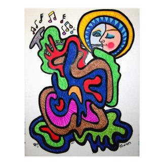 Musikfärg vid Piliero Reklamblad 21,5 X 30 Cm