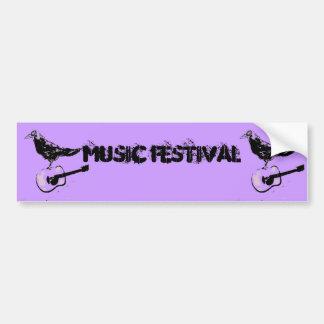 musikfestivalkonst bildekal