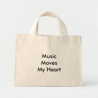Musikflyttningar min hjärta mini tygkasse