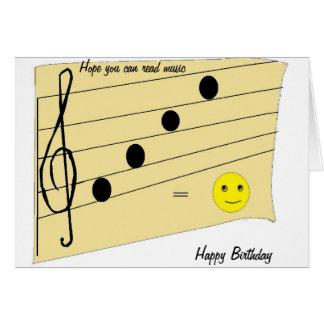 Musikfödelsedagkort Hälsnings Kort
