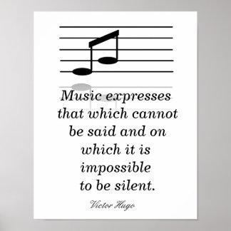 Musikgillande - konsttryck poster