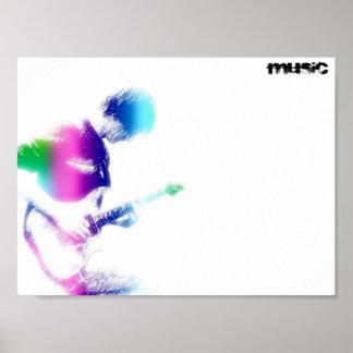 Musikgitarraffisch Poster