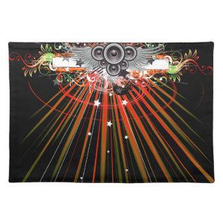 Musikhögtalare i flyg med laser strålar bordstablett