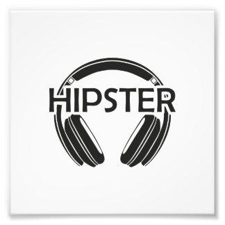MusikhörlurarHipster Fototryck