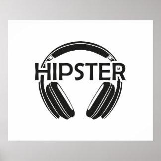 MusikhörlurarHipster Poster