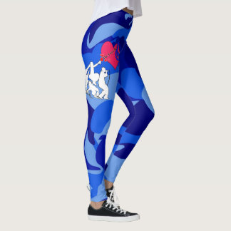 Musikkamouflage för fyra inslag leggings