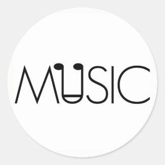 musikkonstdesigner noterar den minimalist neutrala runt klistermärke