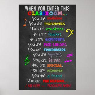 Musiklärare - när du skriver in regler för detta poster