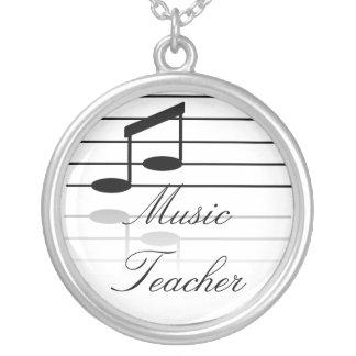 Musiklärare Silverpläterat Halsband