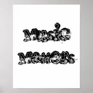 Musikmateriaaffisch Poster