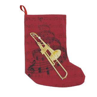 Musikstrumpa för Trombone (ventil) Liten Julstrumpa