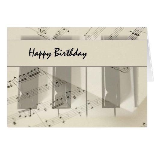Musiktangentbordfödelsedag Hälsnings Kort