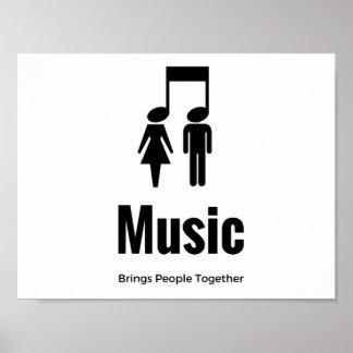 Musikvänner Poster