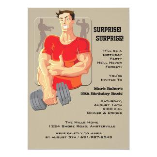 Muskelmaninbjudan 12,7 X 17,8 Cm Inbjudningskort