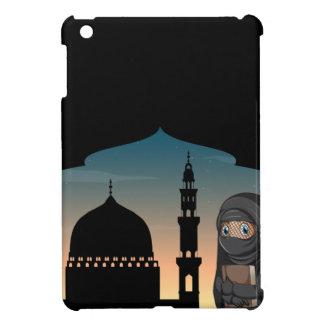 Muslimkvinna i svart dräkt iPad mini skal
