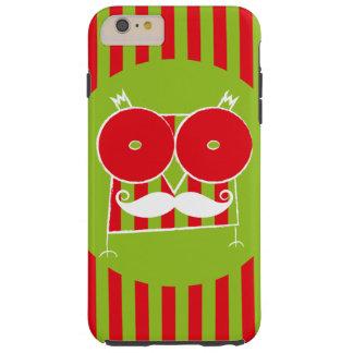 Mustached ugglaiphone case (för några modellera), tough iPhone 6 plus fodral
