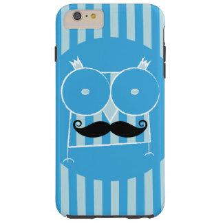 Mustached ugglaiphone case (för några modellera), tough iPhone 6 plus skal