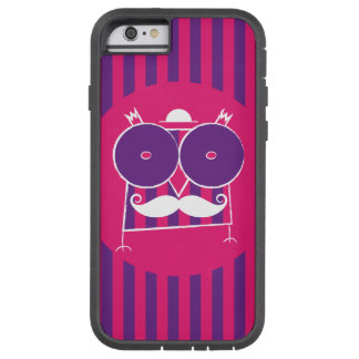 Mustached ugglaiphone case (för några modellera), tough xtreme iPhone 6 fodral
