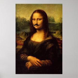Mustachioed Mona Lisa affisch
