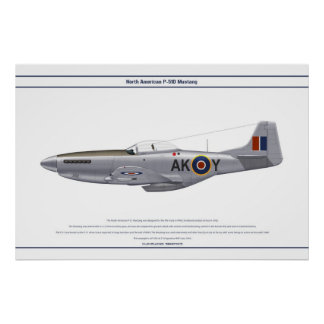 Mustang GB 213 Sqn 1 Poster