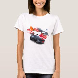 MustangCustomizerkvinna grundläggande T-tröja T-shirts