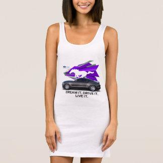 MustangCustomizerkvinna klänning för T-tröja T Shirt