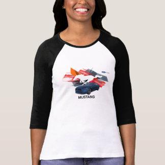 MustangCustomizerkvinna T-tröja för Raglan Tröjor
