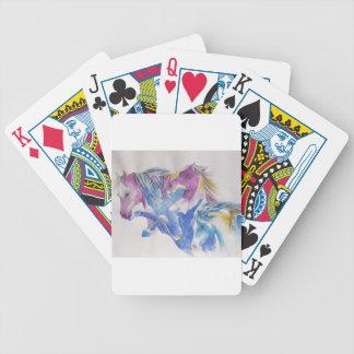 Mustangporträtt i pastell spelkort