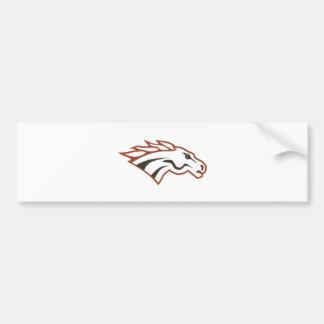 Mustangs för vit för klass för älgflod6e bildekaler