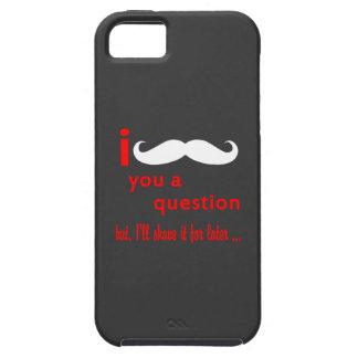 Mustasch dig en ifrågasätta iPhone 5 Case-Mate skal