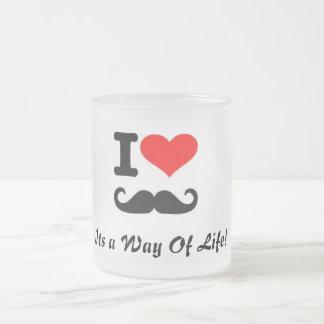 mustasch frostad glas mugg