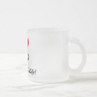 mustasch kaffe mugg