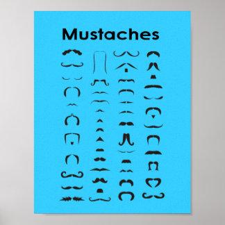 Mustaschen kartlägger den roliga gåvan för affisch poster