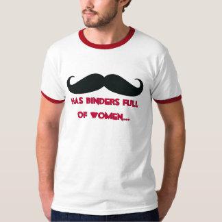 Mustaschlimbindningfullt av den roliga T-tröja för Tshirts