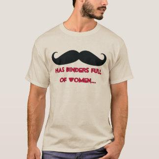 Mustaschlimbindningfullt av kvinnaT-tröja Tröjor